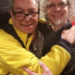 Steve Kent with Mike Watt of the Minutemen